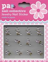 DL- Sticker Jewel silver & gold rose