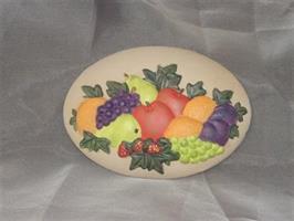 Platta frukt målad