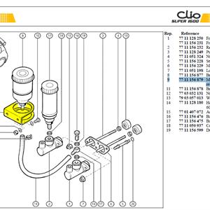 SPT BOCAL FREIN AVANT - Mounting bracket brake fluid reservoir