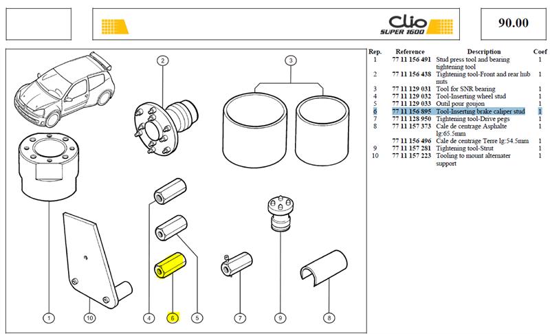 OUTIL/AXE ETR. FREIN AV - Tool-Inserting brake caliper stud