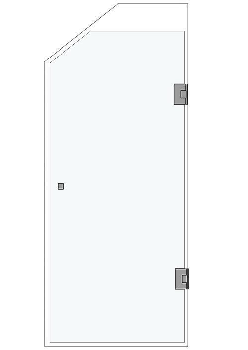 R1001B , en nischdörr, med/utan snedkapning