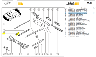 MONOGRAMME 1,6L - Name plate 1.6 - 16V RH