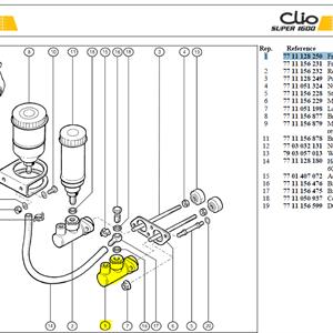 """MAITRE CYLINDER REPERE BLEU - Front brake M/Cyl (7/10"""")"""