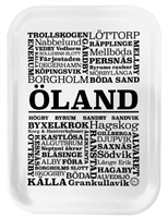 ÖLANDSBRICKA   SVART/VIT