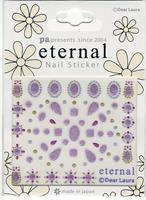 DL- Sticker pattern purple