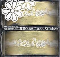 DL- Sticker Ribbon lace white 06