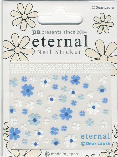 DL- Sticker Flower blue & white