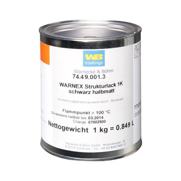Warnex strukturfär grå 1kg