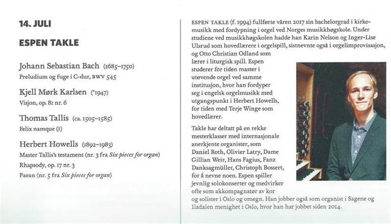 Internasjonale orgelkonserter Oslo domkirke