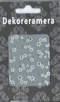 DM- Sticker Flower white & green