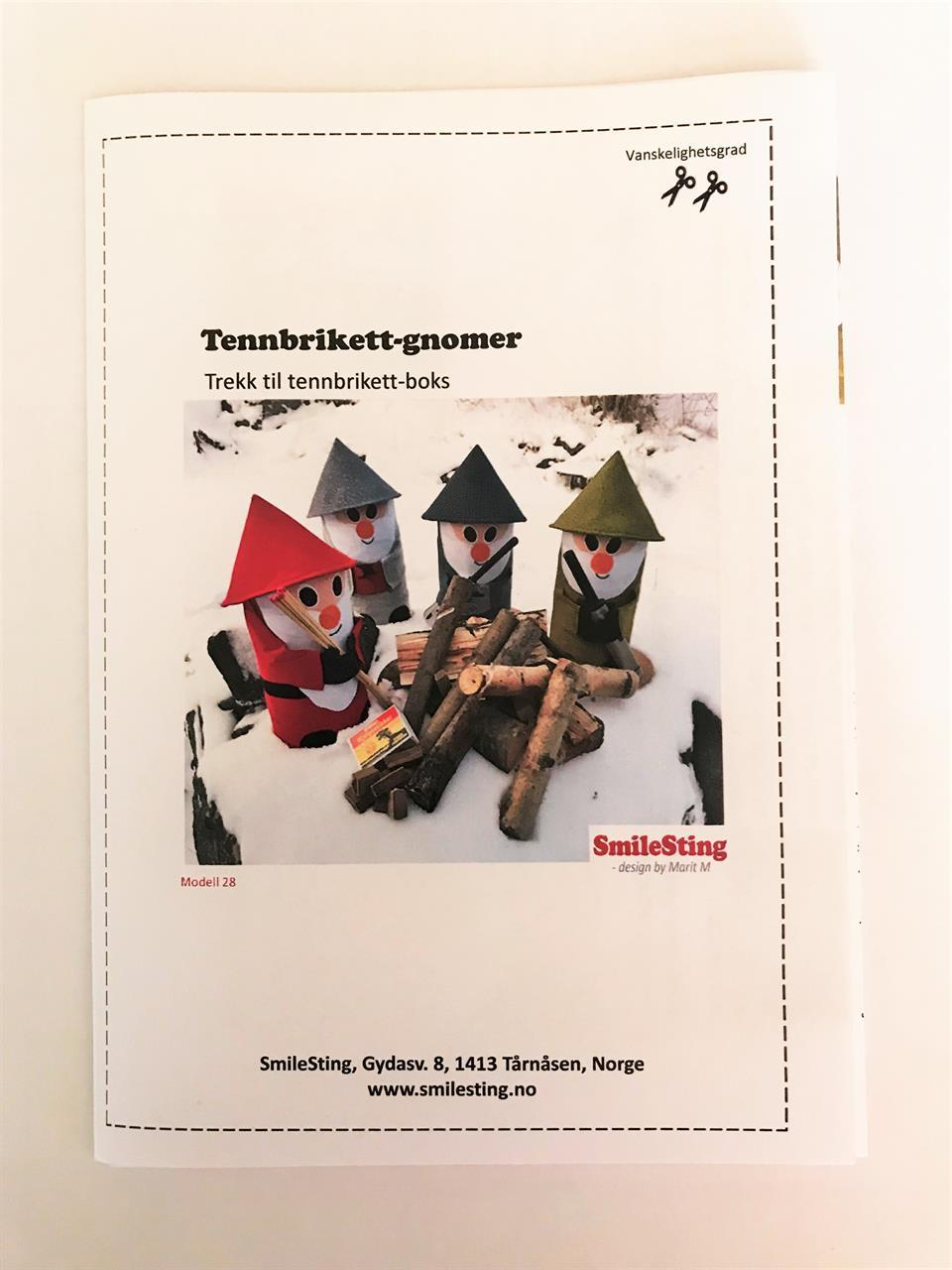 Mønster til Tennbrikett-gnom