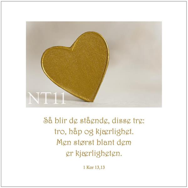 Postkort 1 Kor 13,13