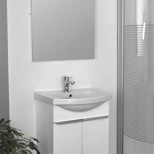 Spegel, 60x75cm, Vit Satin