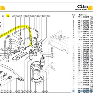 TUY SORT.FILTR ESSENCE - Hose-Filter outlet to fuel rail inlet