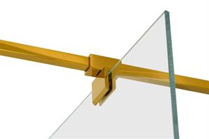 RoyalBath Dubbelkoppling Stödarm Bl. Mässing/Guld, 50x50mm