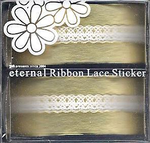 DL- Sticker Ribbon lace white 03