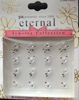 DL- Sticker Jewel white & silver rose
