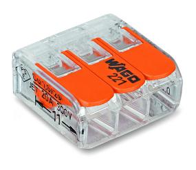 Kopplingsklämma Wago 221-412 2x0,2-4mm²