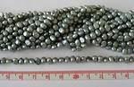 Sötvattenpärla nuggets 5-7mm grå