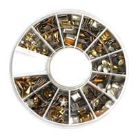 KN- WHEEL Gold metallic studs