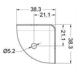 Platt hörn 37 mm