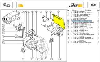 ECRAN DEMARREU - Heatshield-Starter Motor