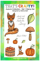 A5 clear stamp set Autumn Collection set 1