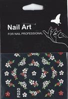 NA- Sticker Flower red & white