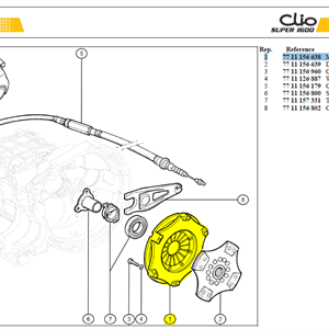 MÉCHANISME EMBRAYAGE - Clutch mechanism CP7381-CE80-SF - Paineasetelma