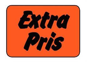Etikett Extra Pris 50x30mm