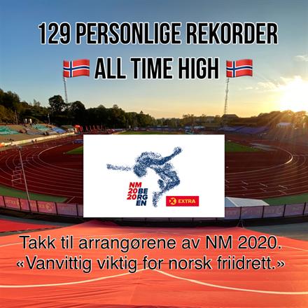NM: 129 nye personlige rekorder er «all time high».