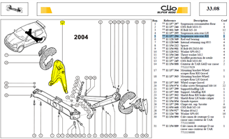 BRAS AR DROIT - Suspension arm-rear-RH