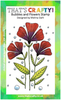 A6 Clear stamp Bubbles and Flowers