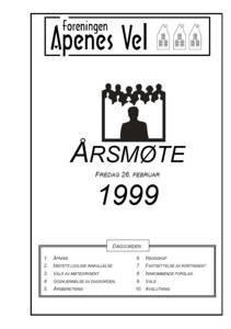 Program for Årsmøte 1999