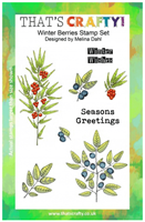 A5 clear stamp set  Winter Berries