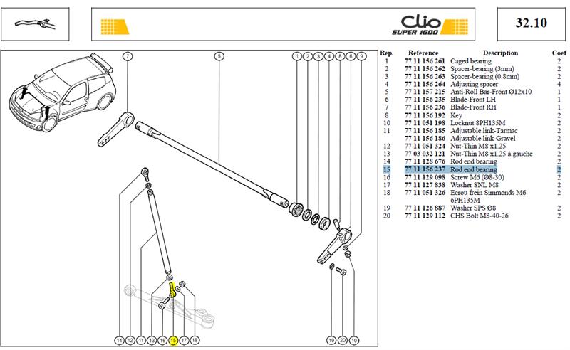 ROTULE UNIBAL - Rod end bearing