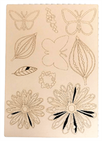 A4 Craftyboard Butterflies,Leaves and Flowers