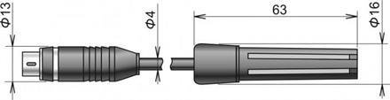 DigiS/M relative humidity & temperature probe cable 1m MiniDin