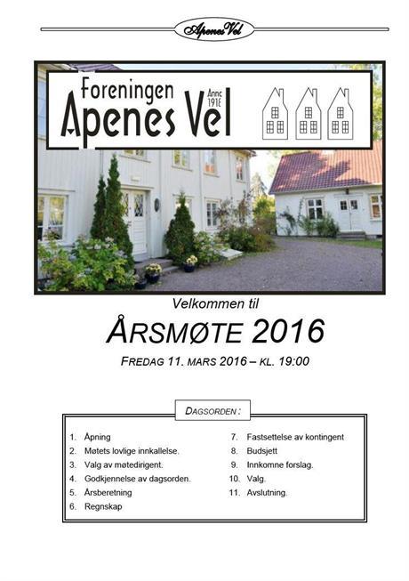 Årsmøteprogram 2016