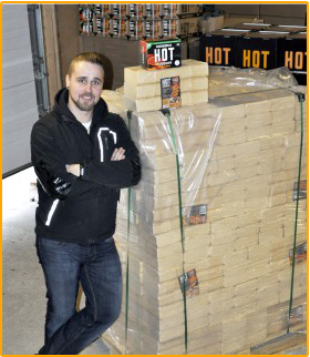 HOT-Puubriketti eurolava 960kg (Hinnat sisältävät rahdin)