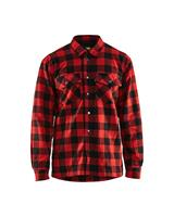 Fodrad flanellskjorta Röd/Svart 3225