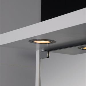 Badrumsskåp  60cm VIT LED