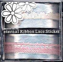 DL- Sticker Ribbon lace pink
