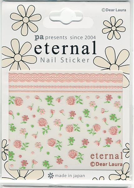 DL- Sticker Flower pink & green