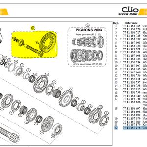 Couple 11/58 Evo 2004 - Clio S1600 Final drive kit 11/58 EVO 2004