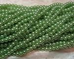 Vaxade glaspärlor ljusgrön