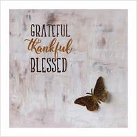 Kunstkort - Grateful, thankful, blessed