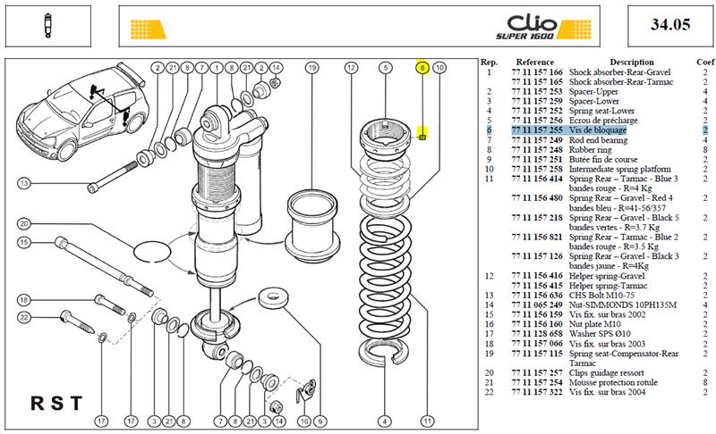 VIS DE BLOCAGE - Spring plate lock bolt