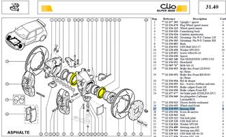 Roulement AV - Front wheel beaing SNR