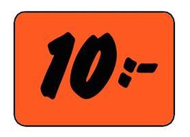 Etikett 10:- 50x30mm
